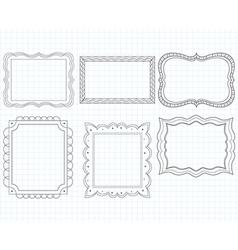 Ornate doodle frames vector
