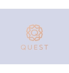 Premium letter q logo icon design luxury vector