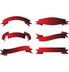 scroll red vector image vector image