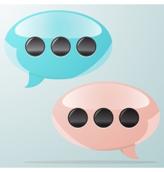 Speach bubbles at light background vector image