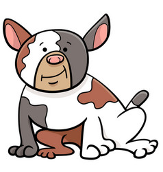 spotted bull dog cartoon animal character vector image