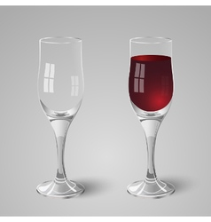 Wineglass with red wine vector image