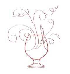 Red wine splash isolated vector