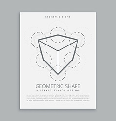 Sacred geometry lineart vector