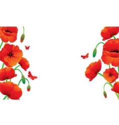 poppy banner vector image