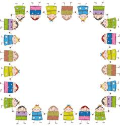Children frame vector