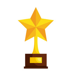 Trophy star isolated icon vector