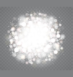 Transparent glowing snow effects with sparkles vector