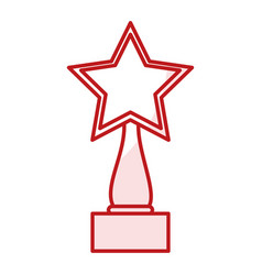 Star trophy award icon vector