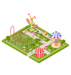 amusement park design composition vector image