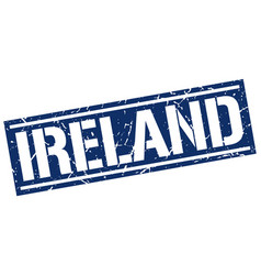 Ireland blue square stamp vector