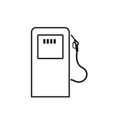 gas station black color icon vector image