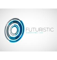 Futuristic circle business logo design vector image