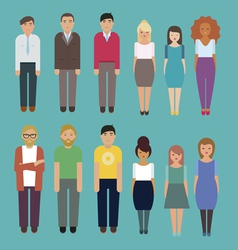Office people characters set vector image