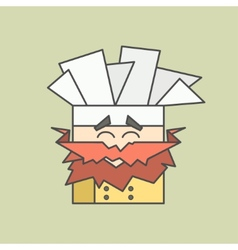 Flat icon of cute smiling chef from vector