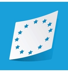 European union sticker vector