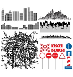 urban collection vector image