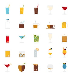 Isolated drinks and beverages icons set vector