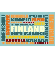Finland tags cloud vector