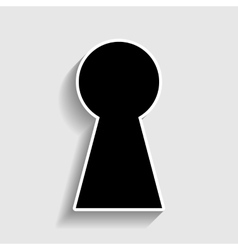 Keyhole sign sticker style icon vector