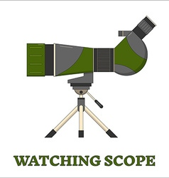 Travel scope birdwatching line art icon vector