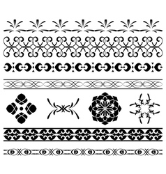 Set - black borders for decoration vector