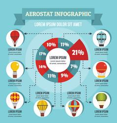 Aerostat infographic concept flat style vector
