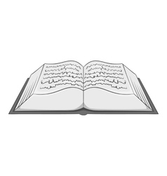 Ancient book icon gray monochrome style vector