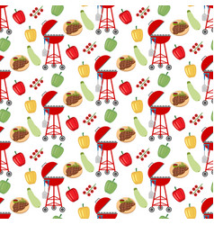 Barbeque grill pattern vector