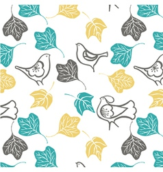 Birds and Leaves Background vector image vector image