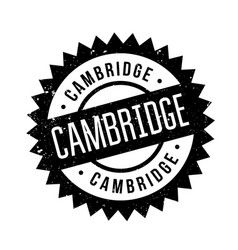 Cambridge rubber stamp vector