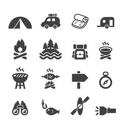 Camp icon set vector