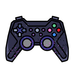 Cartoon image of game icon gamepad symbol vector