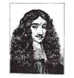 Charles ii of england vintage vector