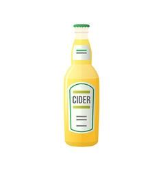 Colored flat light cider bottle vector