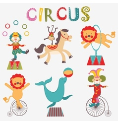 Colorful circus collection vector