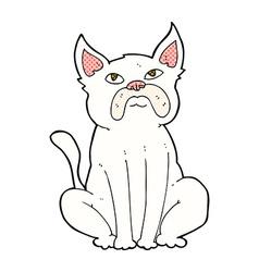 comic cartoon grumpy little dog vector image vector image