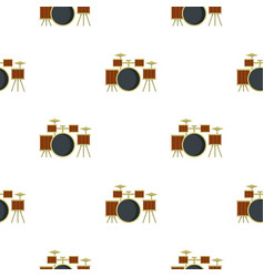 Drum setting pattern seamless vector