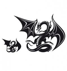 Fantasy dragon vector