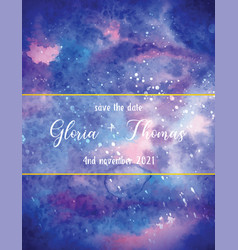 Greeting card for wedding day with space vector