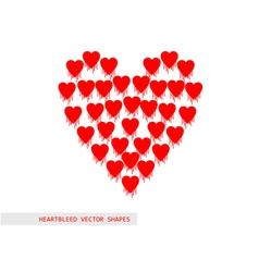 Heartbleed openssl bug shape vector