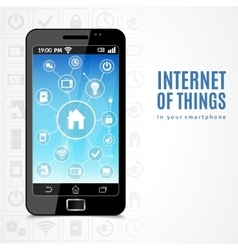 Internet Of Things Phone vector image