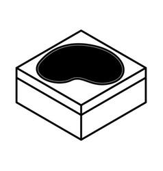 Lake terrain isometric icon vector