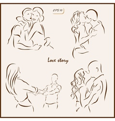 Love story vector
