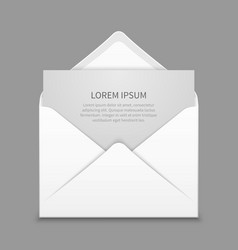 Opened envelope with blank paper latter vector