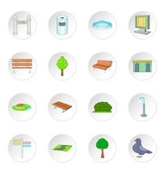 Park icons set vector