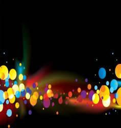 rainbow bubble vector image vector image