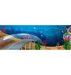 Road underwater vector
