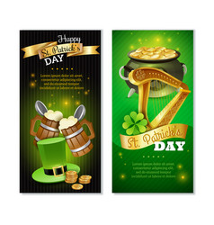 Saint patricks day vertical banners set vector
