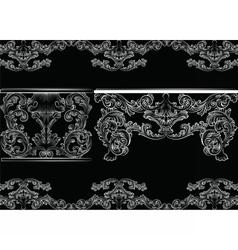 Set of baroque vintage furniture and frames vector